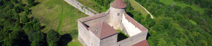 Chateau des Allymes, vue aérienne