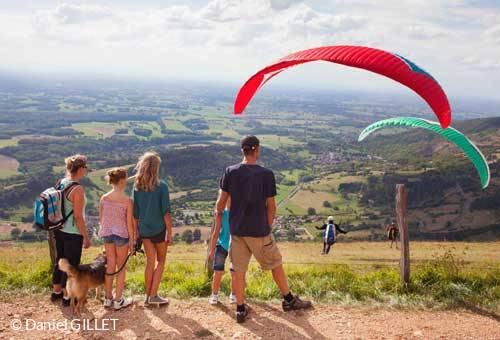 Paragliding as a family over Mont Myon