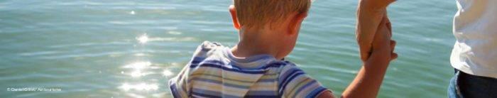 Au bord de la Saône en famille