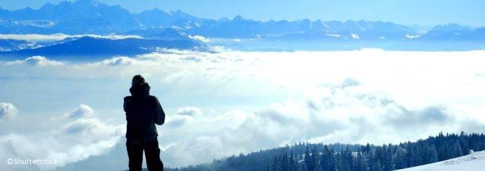 Panorama hiver Ain Montagnes du Jura Mont Blanc