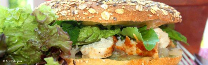 Ain burger par la Cheffe Francine Lioux