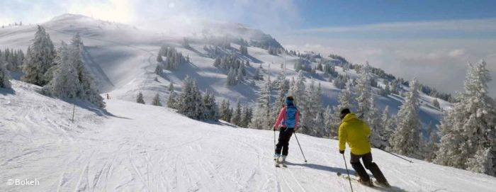 ski alpin à la station de ski de Monts Jura