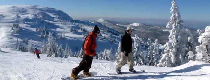 snow à la station de ski Monts Jura