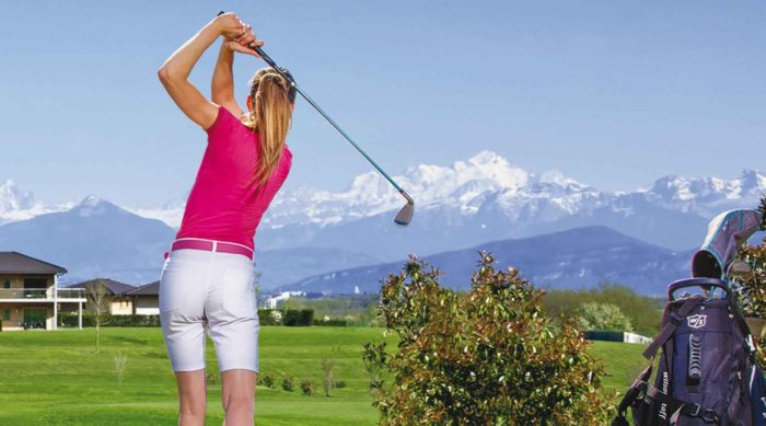 golfeuse au golf du Jiva Hill à Crozet