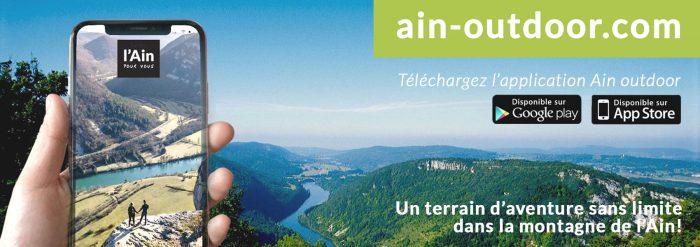 Ain-outdoor : portail et application mobile des activités de pleine nature dans l'Ain
