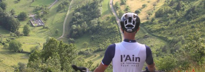 Cycliste avant challenge