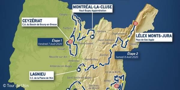3e étape du Tour de l'Ain 2020 : Saint-Vulbas - Grand Colombier